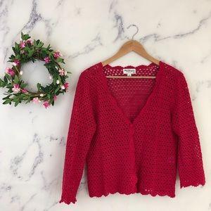 Norm Thompson Crochet Cardigan